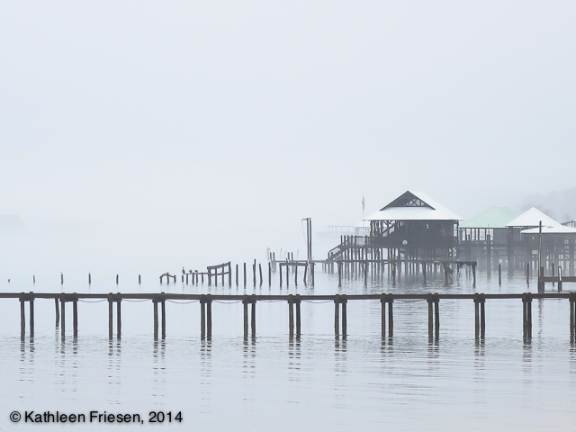 docks in the mist