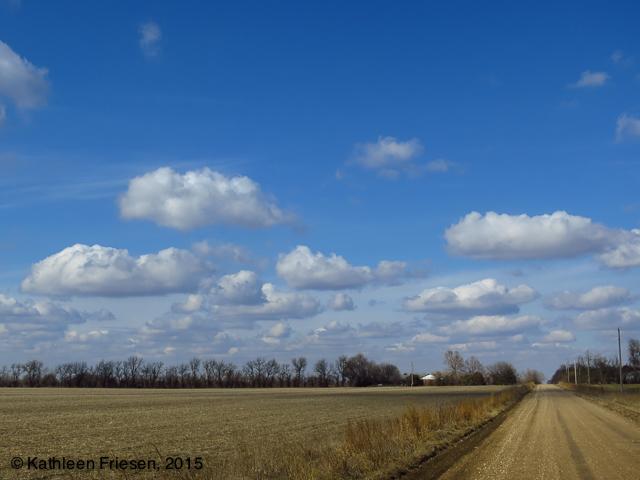 Kansas puffy clouds
