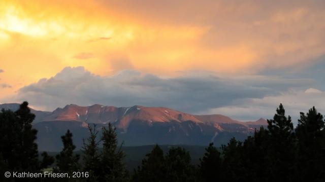 sunset on pikes peak
